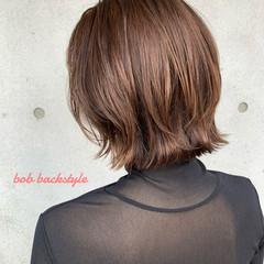 大人可愛い 切りっぱなしボブ 外ハネボブ ナチュラル ヘアスタイルや髪型の写真・画像