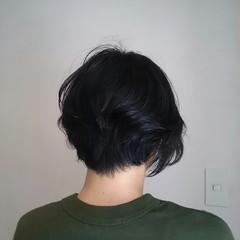 ナチュラル 伸ばしかけ ショート ボブ ヘアスタイルや髪型の写真・画像