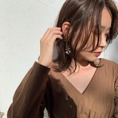 ナチュラル 簡単スタイリング 大人可愛い ミディアム ヘアスタイルや髪型の写真・画像