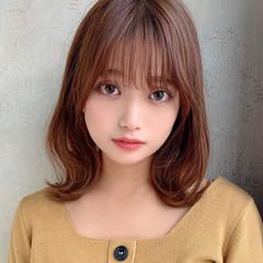 ヘルシーミディ ミディアム 韓国ヘア 波ウェーブ ヘアスタイルや髪型の写真・画像