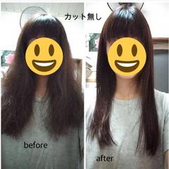 ナチュラル ロング 縮毛矯正 ヘアスタイルや髪型の写真・画像