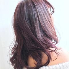 ミルクティー セミロング フェミニン 大人女子 ヘアスタイルや髪型の写真・画像