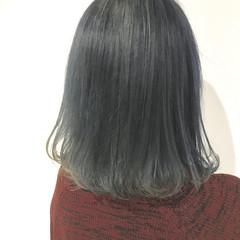 ボブ モテ髪 グレージュ 透明感カラー ヘアスタイルや髪型の写真・画像