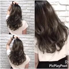 外国人風カラー セミロング グラデーションカラー ストリート ヘアスタイルや髪型の写真・画像