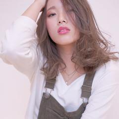 大人かわいい フェミニン 渋谷系 ミディアム ヘアスタイルや髪型の写真・画像