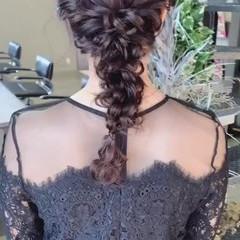 結婚式 簡単ヘアアレンジ ロング ナチュラル ヘアスタイルや髪型の写真・画像