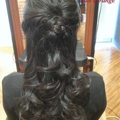 黒髪 ショート ロング ハーフアップ ヘアスタイルや髪型の写真・画像
