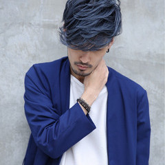 暗髪 アッシュ メンズ 黒髪 ヘアスタイルや髪型の写真・画像