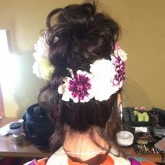 お祭り ルーズ 夏 ヘアアレンジ ヘアスタイルや髪型の写真・画像