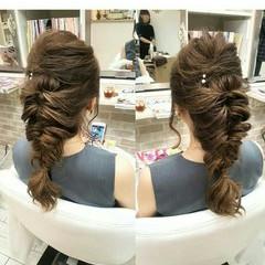 ヘアアレンジ ロング 上品 エレガント ヘアスタイルや髪型の写真・画像