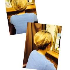 刈り上げ ハイトーン ショート モード ヘアスタイルや髪型の写真・画像