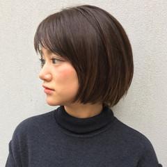 色気 ニュアンス フリンジバング ボブ ヘアスタイルや髪型の写真・画像