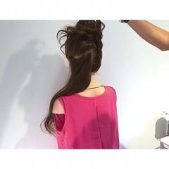 お団子 ヘアアレンジ ロング フェミニン ヘアスタイルや髪型の写真・画像