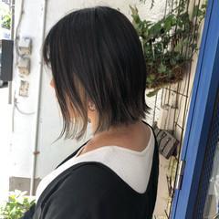 シルバーグレージュ ナチュラル インナーカラー グレージュ ヘアスタイルや髪型の写真・画像