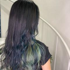 インナーカラー エクステ ロング イルミナカラー ヘアスタイルや髪型の写真・画像