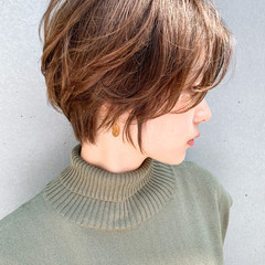 ショート ナチュラル ハンサムショート ショートヘア ヘアスタイルや髪型の写真・画像