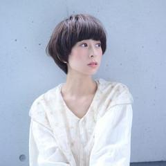 ショート マッシュ ゆるふわ 大人かわいい ヘアスタイルや髪型の写真・画像