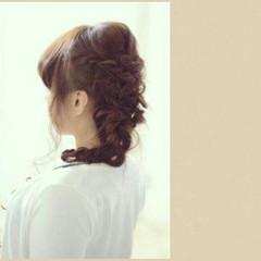 モテ髪 夏 ヘアアレンジ フェミニン ヘアスタイルや髪型の写真・画像