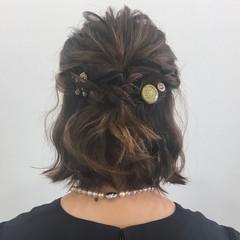 ゆるふわ ハーフアップ ヘアアレンジ ナチュラル ヘアスタイルや髪型の写真・画像