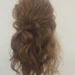 ハーフアップ ロング ヘアアレンジ 大人かわいい ヘアスタイルや髪型の写真・画像