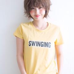 ワイドバング ピュア パーマ ナチュラル ヘアスタイルや髪型の写真・画像