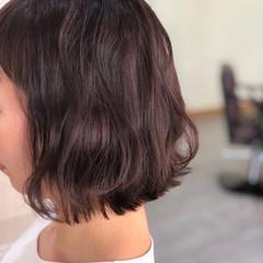 パープルアッシュ フェミニン パープル スライシングハイライト ヘアスタイルや髪型の写真・画像