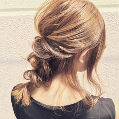 ヘアアレンジ 簡単ヘアアレンジ ミディアム 外国人風 ヘアスタイルや髪型の写真・画像
