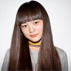 黒髪 ロング ストレート 学校 ヘアスタイルや髪型の写真・画像