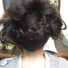 ヘアアレンジ 成人式 セミロング まとめ髪 ヘアスタイルや髪型の写真・画像
