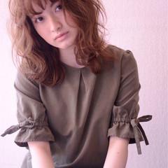 ゆるふわ 外国人風カラー ウェーブ 外国人風 ヘアスタイルや髪型の写真・画像