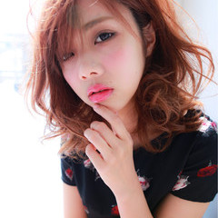 大人かわいい セミロング 色気 モード ヘアスタイルや髪型の写真・画像