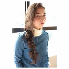 三つ編み ガーリー 秋 ヘアアレンジ ヘアスタイルや髪型の写真・画像