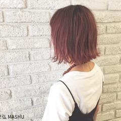 ストリート グラデーションカラー 艶髪 ピンク ヘアスタイルや髪型の写真・画像