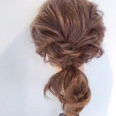 簡単ヘアアレンジ ショート デート 簡単 ヘアスタイルや髪型の写真・画像