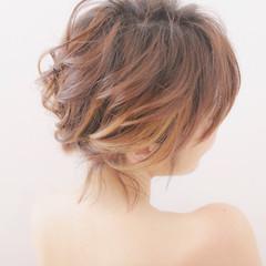 小顔 結婚式 ヘアアレンジ 簡単ヘアアレンジ ヘアスタイルや髪型の写真・画像