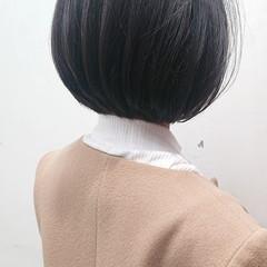 美シルエット お手入れ簡単!! 暗髪 簡単スタイリング ヘアスタイルや髪型の写真・画像