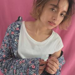フリンジバング 大人女子 ガーリー 前髪あり ヘアスタイルや髪型の写真・画像