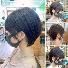 ミニボブ ショートヘア ハンサムショート ショートボブ ヘアスタイルや髪型の写真・画像