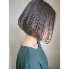 透明感 イルミナカラー ラフ ボブ ヘアスタイルや髪型の写真・画像