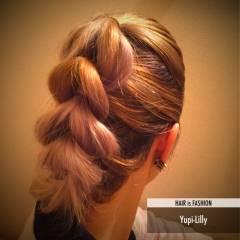 大人かわいい フェミニン ヘアアレンジ ミディアム ヘアスタイルや髪型の写真・画像