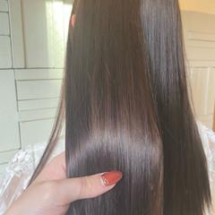 ロング 縮毛矯正 髪質改善トリートメント 髪質改善カラー ヘアスタイルや髪型の写真・画像