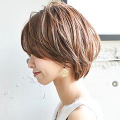 パーティ インナーカラー アンニュイほつれヘア マッシュショート ヘアスタイルや髪型の写真・画像