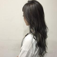 ロング 外国人風 暗髪 ガーリー ヘアスタイルや髪型の写真・画像