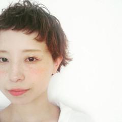 ショート ガーリー ベリーショート ショートバング ヘアスタイルや髪型の写真・画像