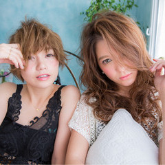 アッシュ ワイドバング パーマ ショート ヘアスタイルや髪型の写真・画像