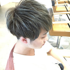 モード メンズ アッシュ ボーイッシュ ヘアスタイルや髪型の写真・画像
