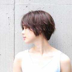 色気 ヘアアレンジ ナチュラル ショート ヘアスタイルや髪型の写真・画像