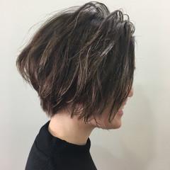 ボブ ハイライト モード ショートボブ ヘアスタイルや髪型の写真・画像