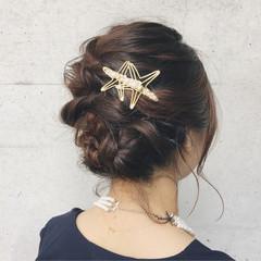 ボブ ミディアム ヘアアレンジ 結婚式 ヘアスタイルや髪型の写真・画像