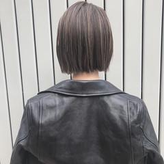 ボブヘアー モテ髪 ナチュラル ワンレングス ヘアスタイルや髪型の写真・画像